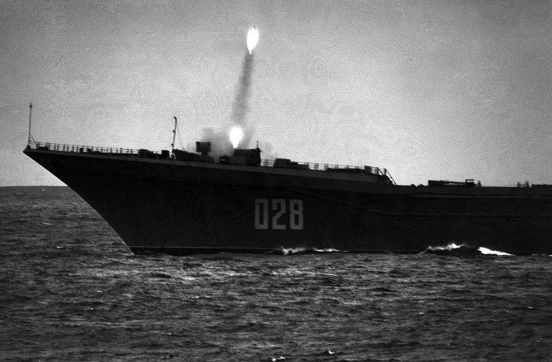 ЗРК Кинжал с атомного крейсера Фрунзе Адмирал Лазарев