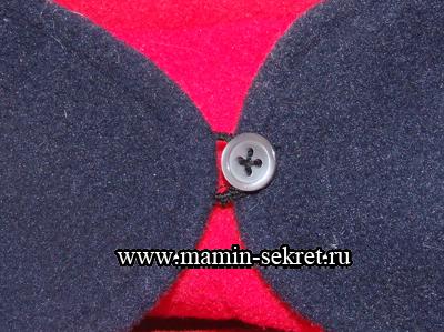 готовая  петелька для одежды из ниток