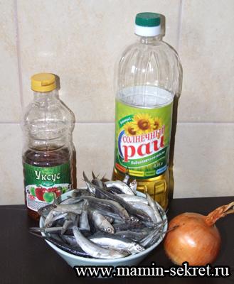 Рецепт Закуски из хамсы с луком и уксусом