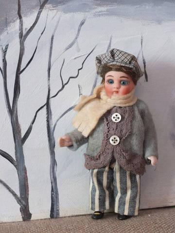 Антикварная куколка немецкой фабрики Hertwig