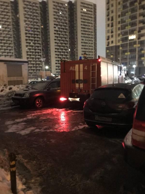 Пожар на парковке