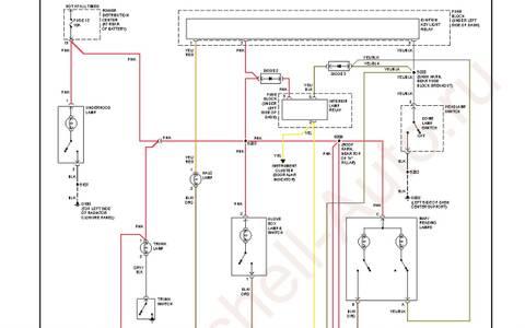 На схеме цвета проводов