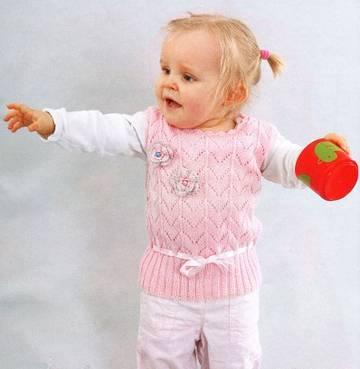 Вязанная безрукавка спицами для детей - domklubka ru