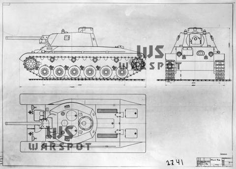Т-34-М (А-43) - модернизированный средний танк Т-34 (1941 г.) QySAp