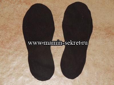 Как сшить обувь ботинки для петрушки, гномика, клоуна