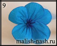 Как сделать цветок из гофрированной бумаги